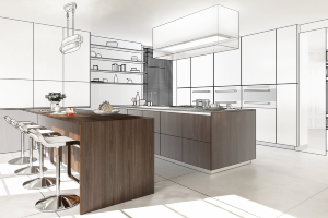 Kitchen in process of renovating – 5 trends in new homes - Richardson Custom Homes - Fort Myers – jpg300x200